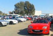 21 MX5s at Dom's Motors, Griffith (LJ)
