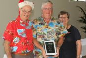 Bob Judd is 2015 Member of the Year Runner-Up - presented by Tony & Iris McDonald at the Canberra Chapter Christmas Function on 13 December 2015.