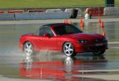 MX-5 on wet skidpan at Sydney Motorsport Park - Photo by Matt Wilmot