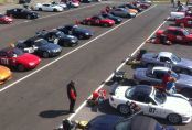 A crowd of MX-5 competitors at the final round of the 2013 Supersprint season, Sydney Motorsport Park Amaroo Circuit.