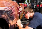 Signing the One Millionth MX-5 in Philadelphia USA