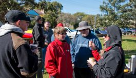 Good to catch up with everyone during morning tea at Branxton.