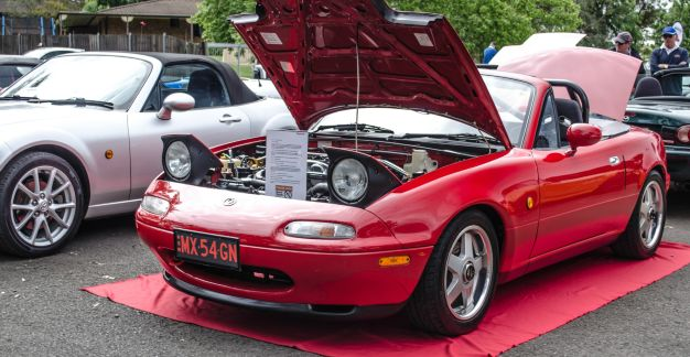 Gary Nobrega's NA6 at 2015 MX-5 Show - photo by Jacob Flak